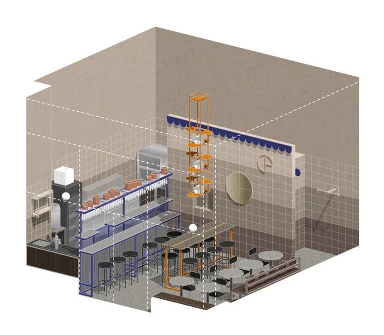 披萨快餐店空间三维图设计