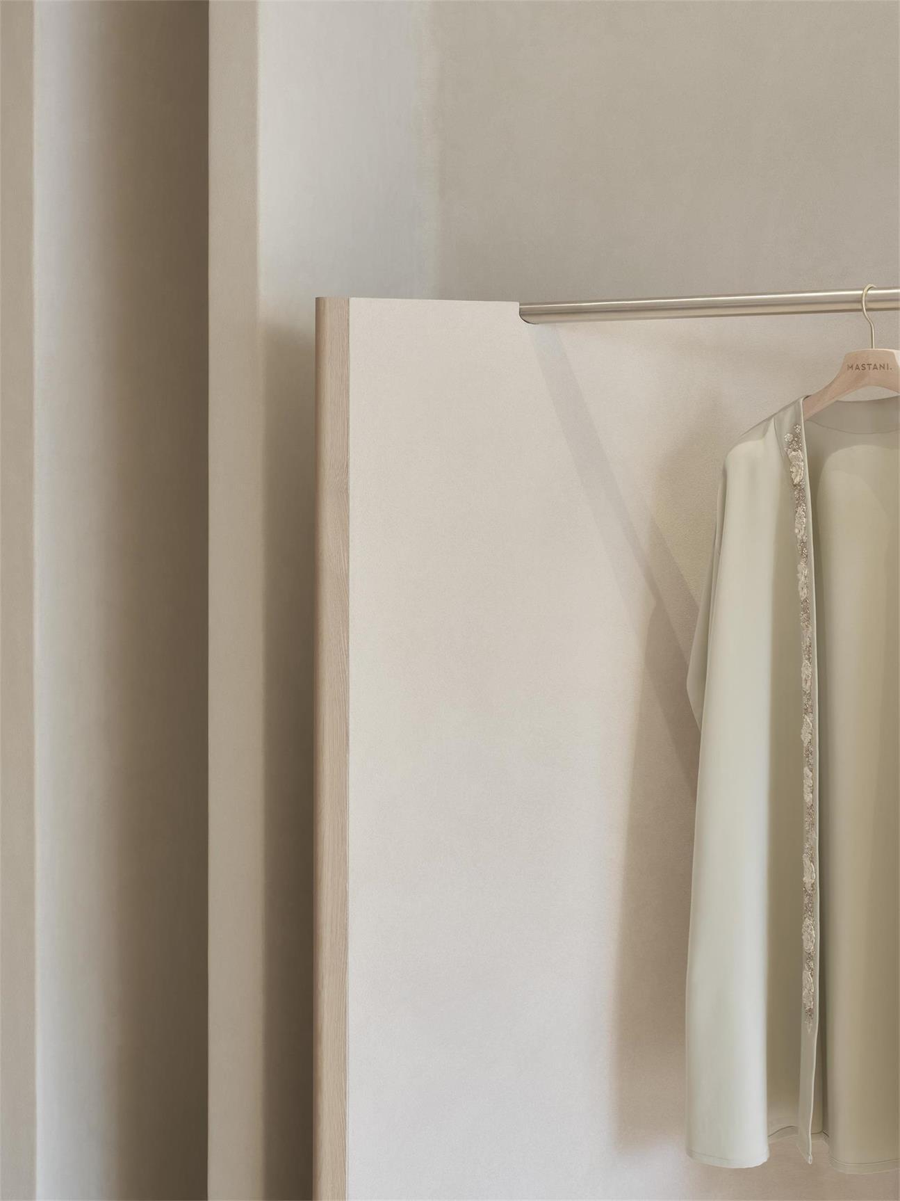 服装店展示架弧形结构设计细节