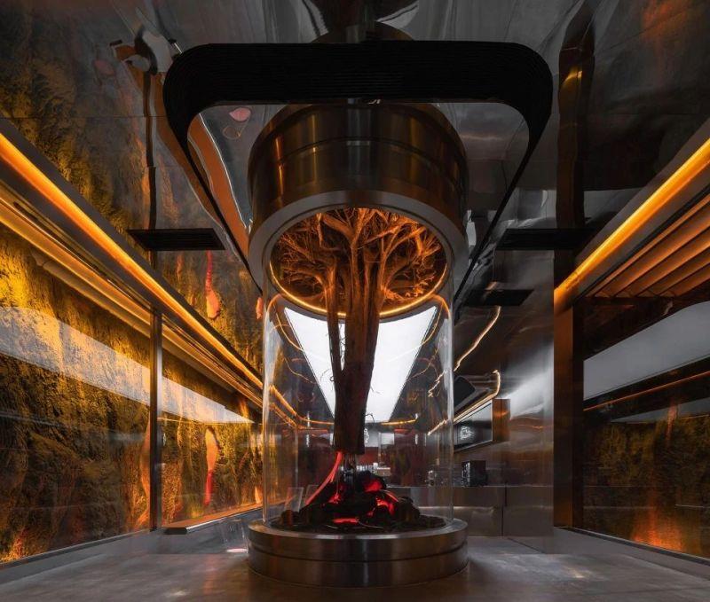 奶茶店生命之树艺术装置设计