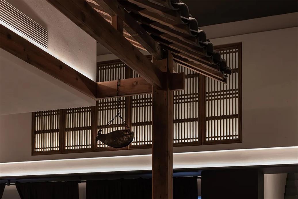 面馆中式造型天花设计