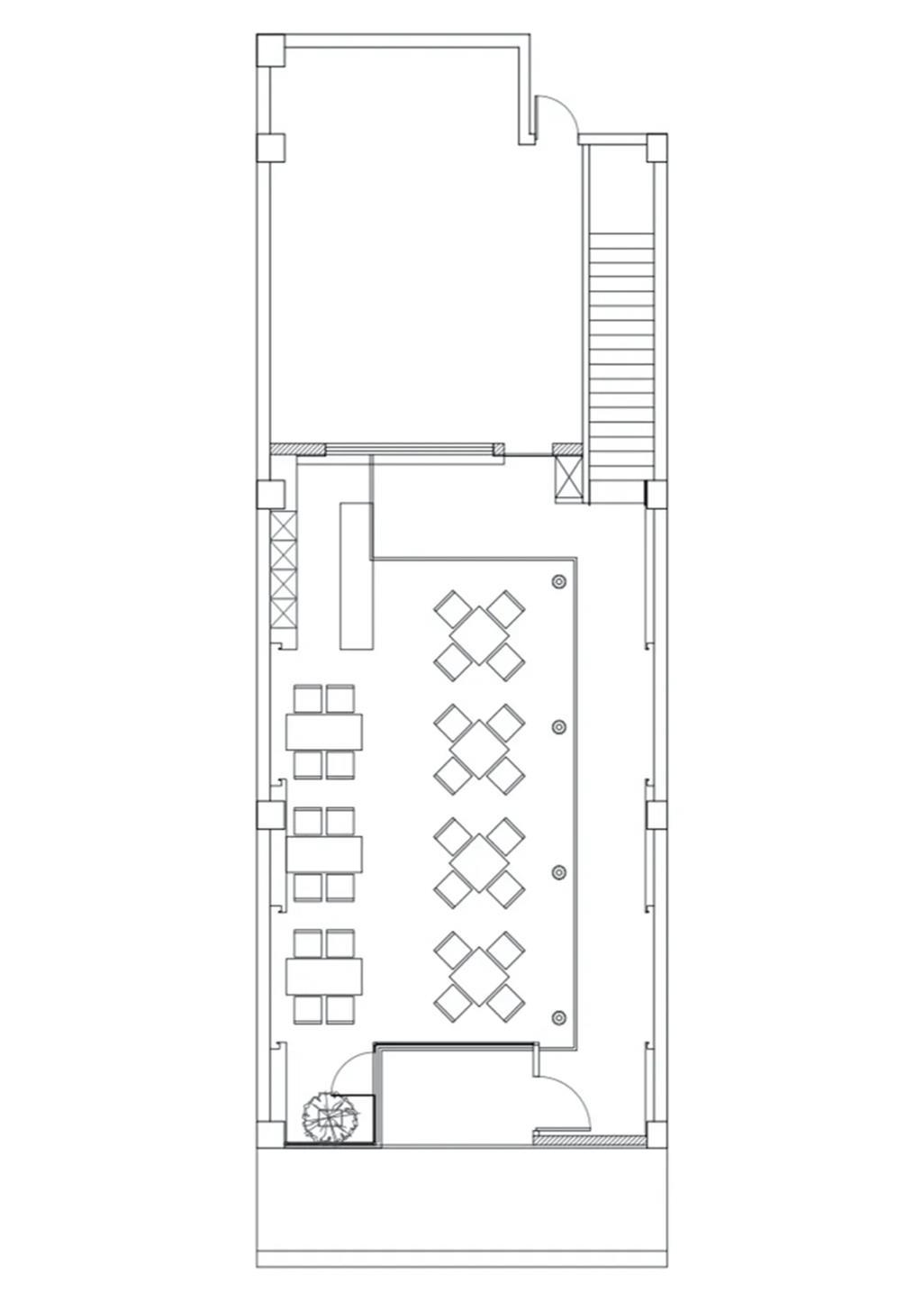 面馆一层平面方案设计