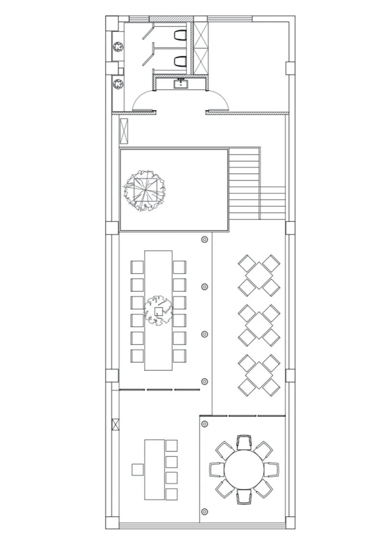 面馆二层平面方案设计