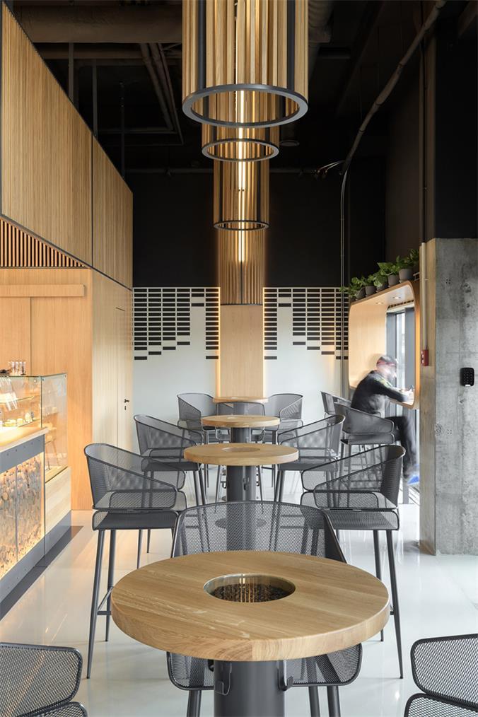 咖啡厅餐桌和灯具设计