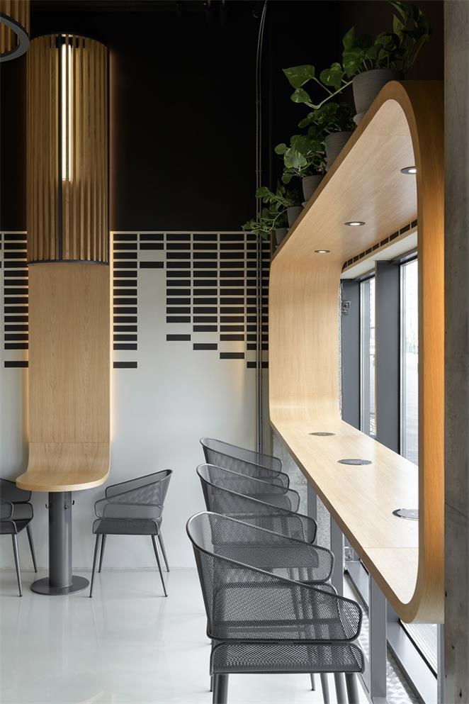 咖啡厅沿窗吧台区设计