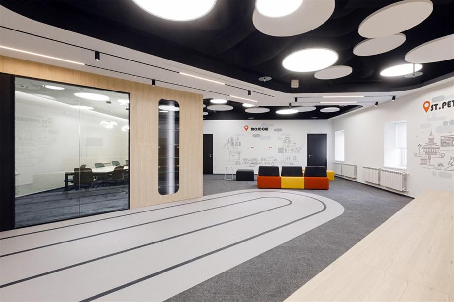 办公室公共区域天花及地面设计