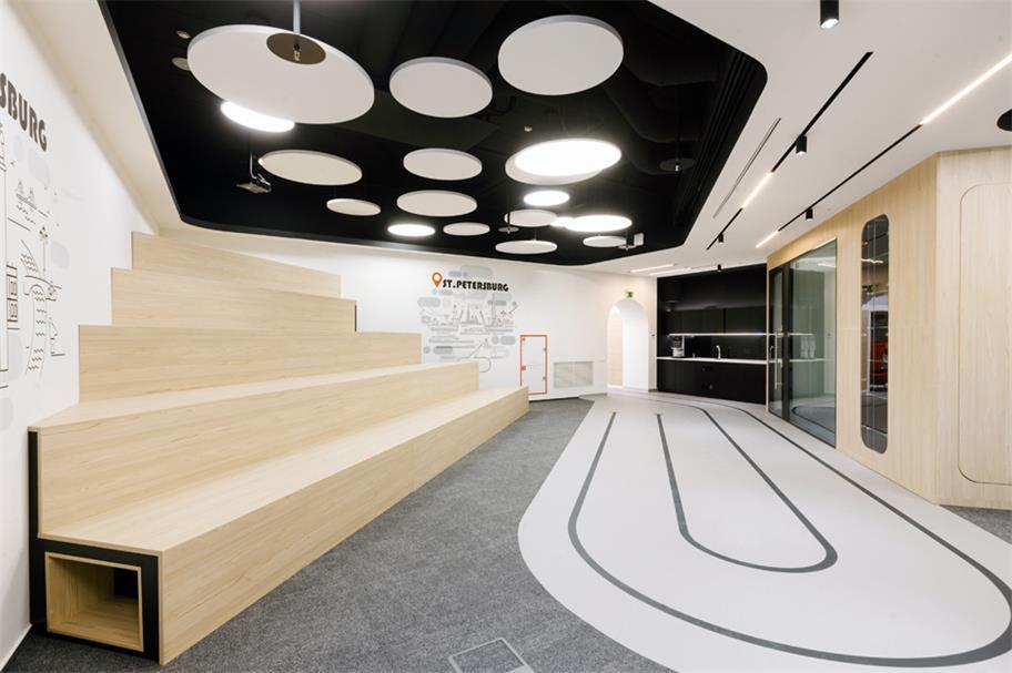 办公室公共区域阶梯式卡座设计