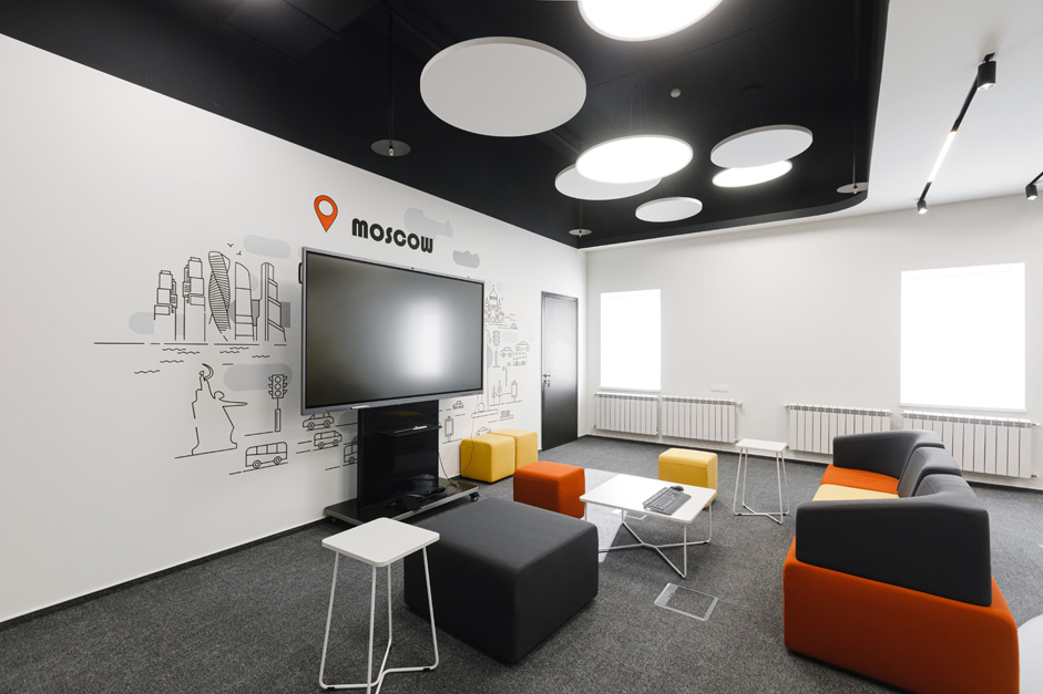 办公室接待区天花及地面设计