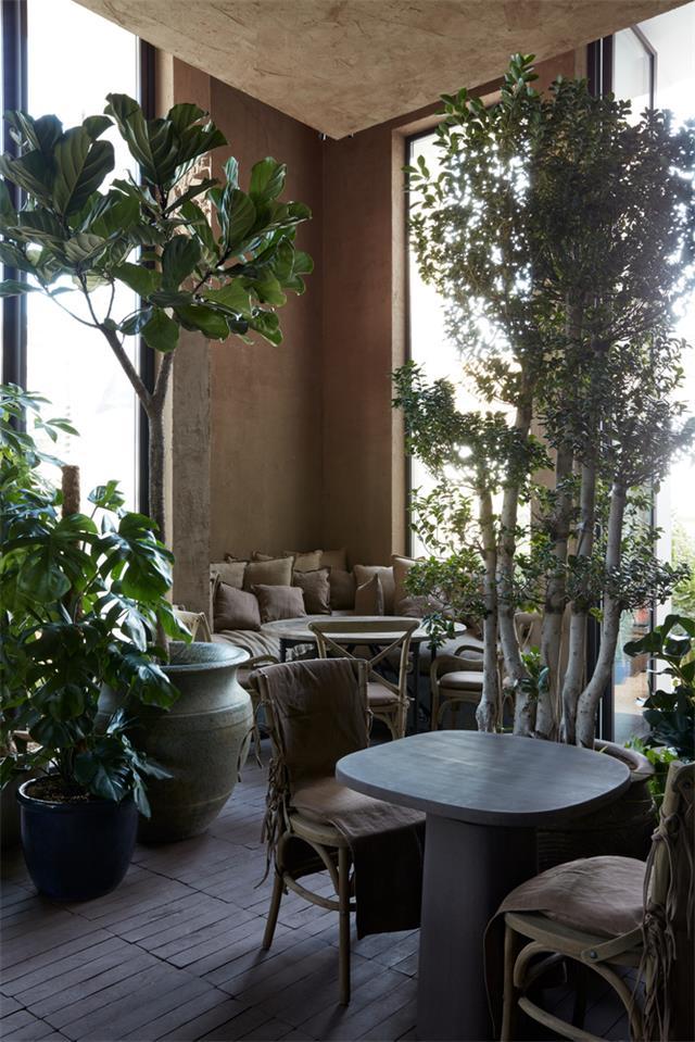 咖啡馆休闲双人座位设计