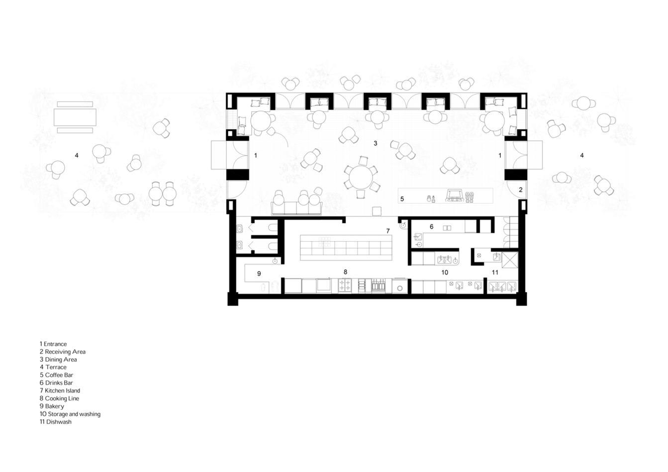 咖啡馆平面方案设计