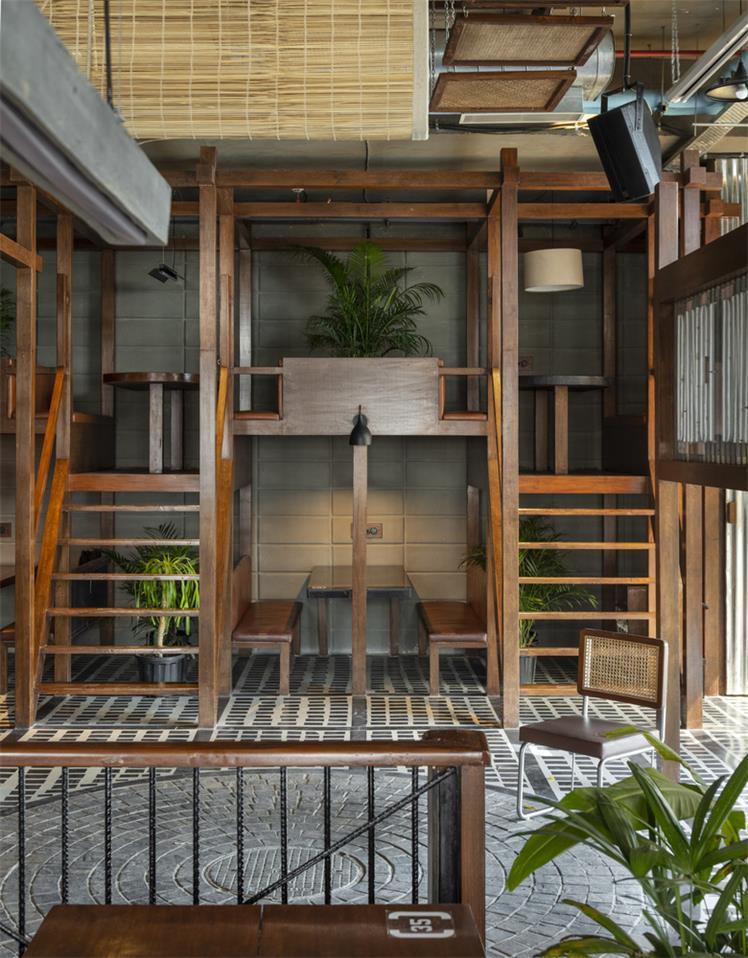 餐厅绿植盆栽设计