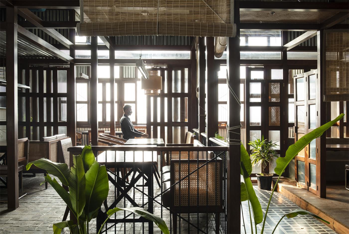 餐厅吧台区设计全景