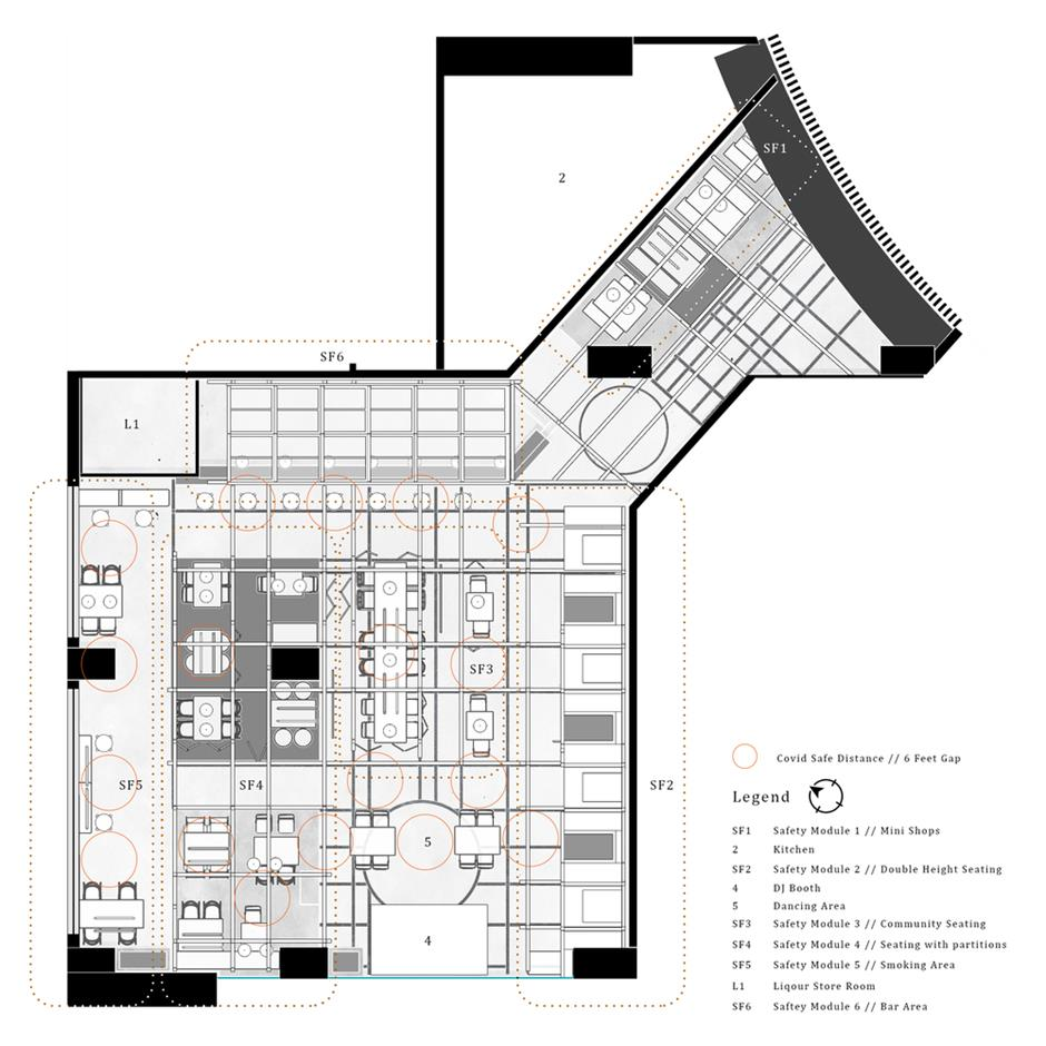 餐厅平面方案设计
