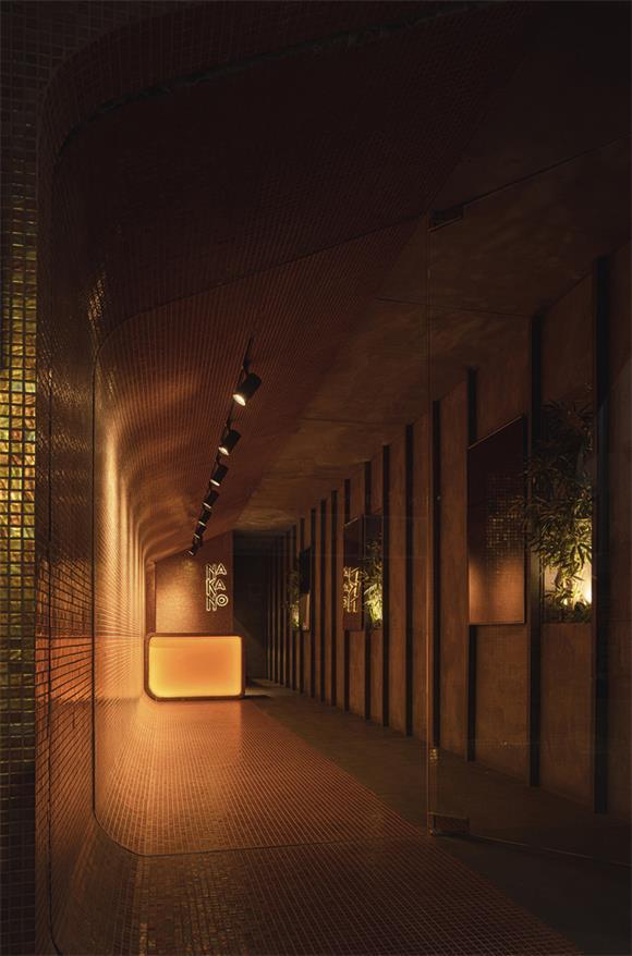 拉面及寿司外卖餐厅内部设计全景