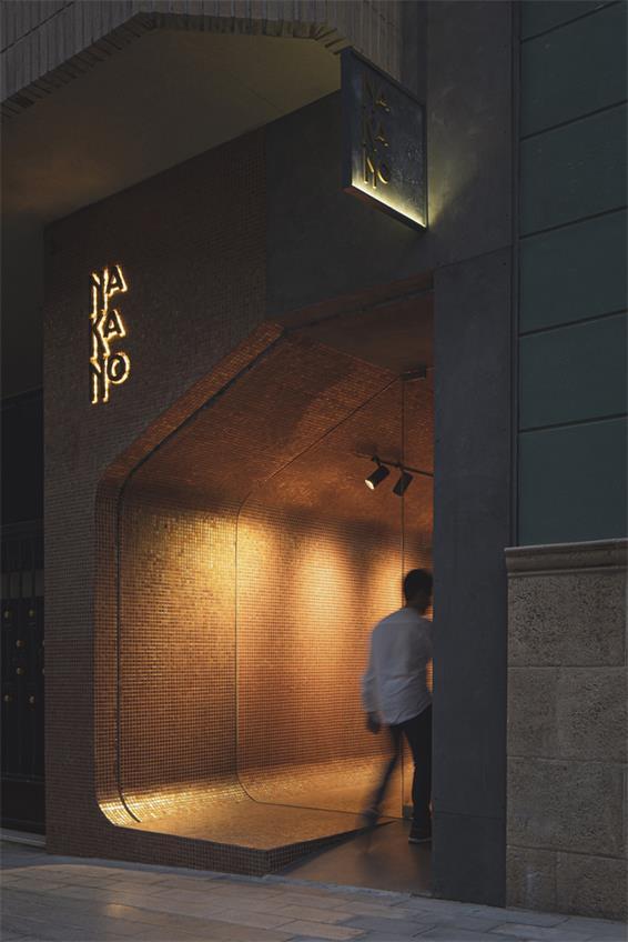 拉面及寿司外卖餐厅门头logo及灯光氛围设计