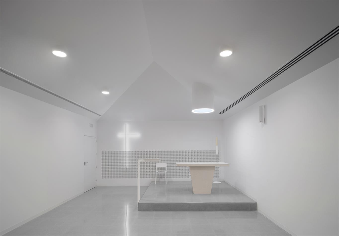 殡仪馆教堂正立面设计