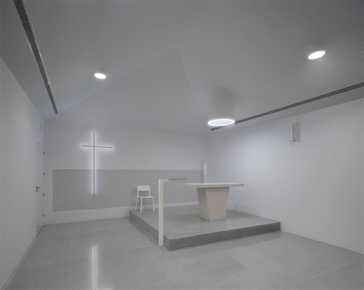 殡仪馆教堂讲台及背景设计