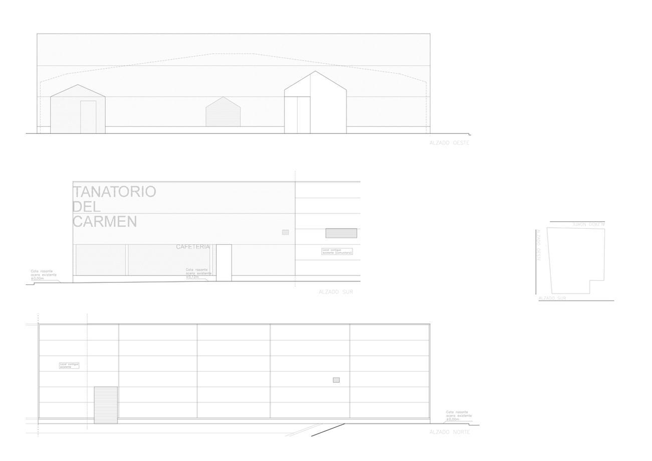 殡仪馆建筑立面图