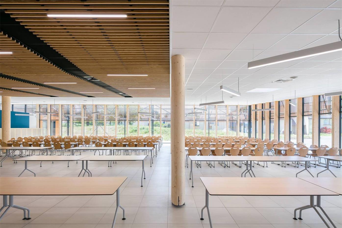 学校食堂内部设计概览