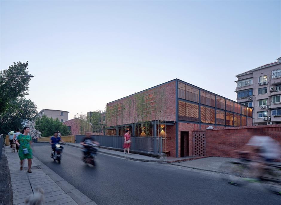 食堂建筑设计侧立面