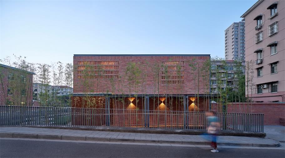 食堂建筑设计正立面