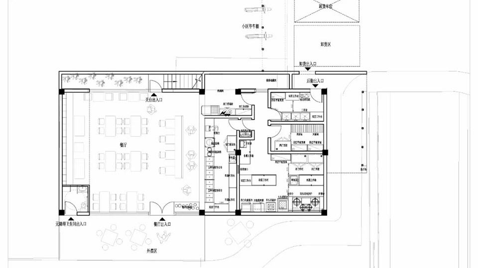食堂平面方案设计