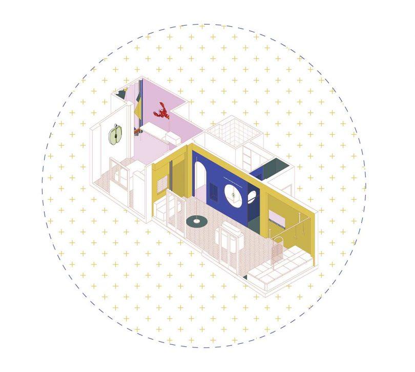 诊所空间方案三维图设计