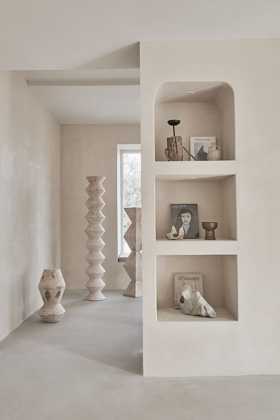 摄影空间二层拱形壁龛和艺术装置设计