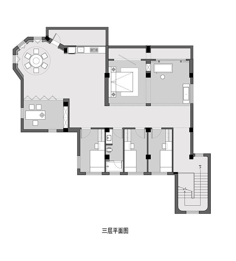 摄影空间三层平面方案设计