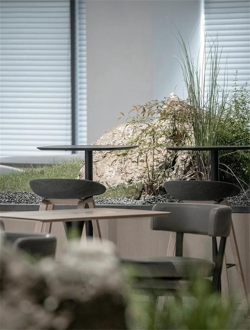 共享办公办公桌周围的园林环境设计
