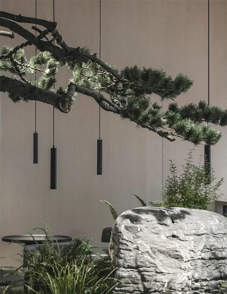 共享办公艺术吊灯在园林中的场景