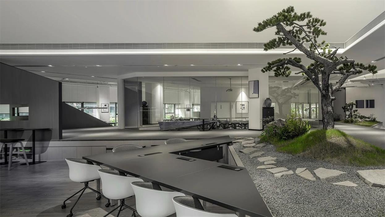 共享办公三角形办公桌设计