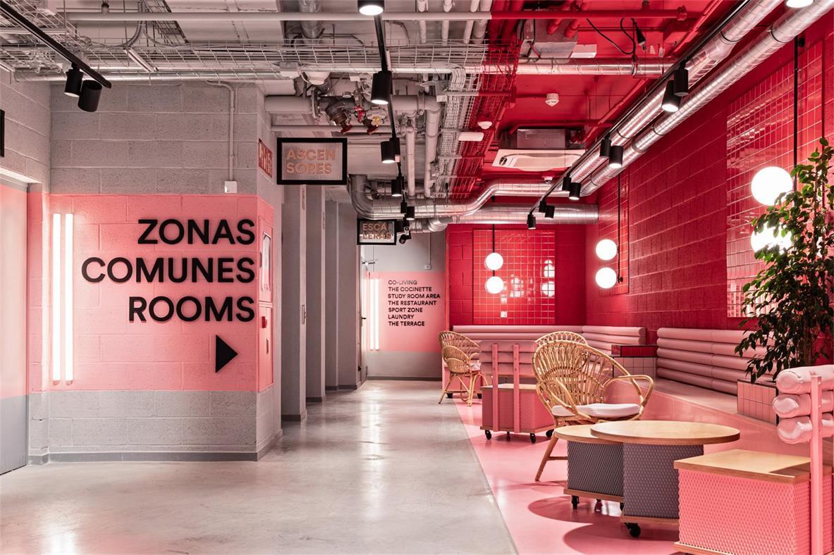 学生公寓公共区域入口处设计