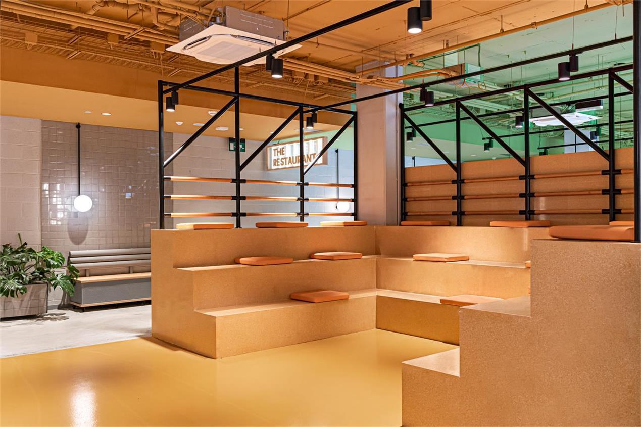 学生公寓阶梯式卡座设计
