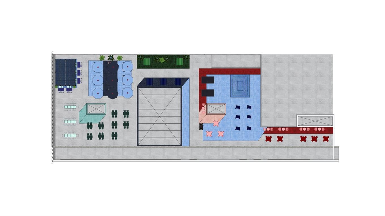 学生公寓户外平台平面方案设计