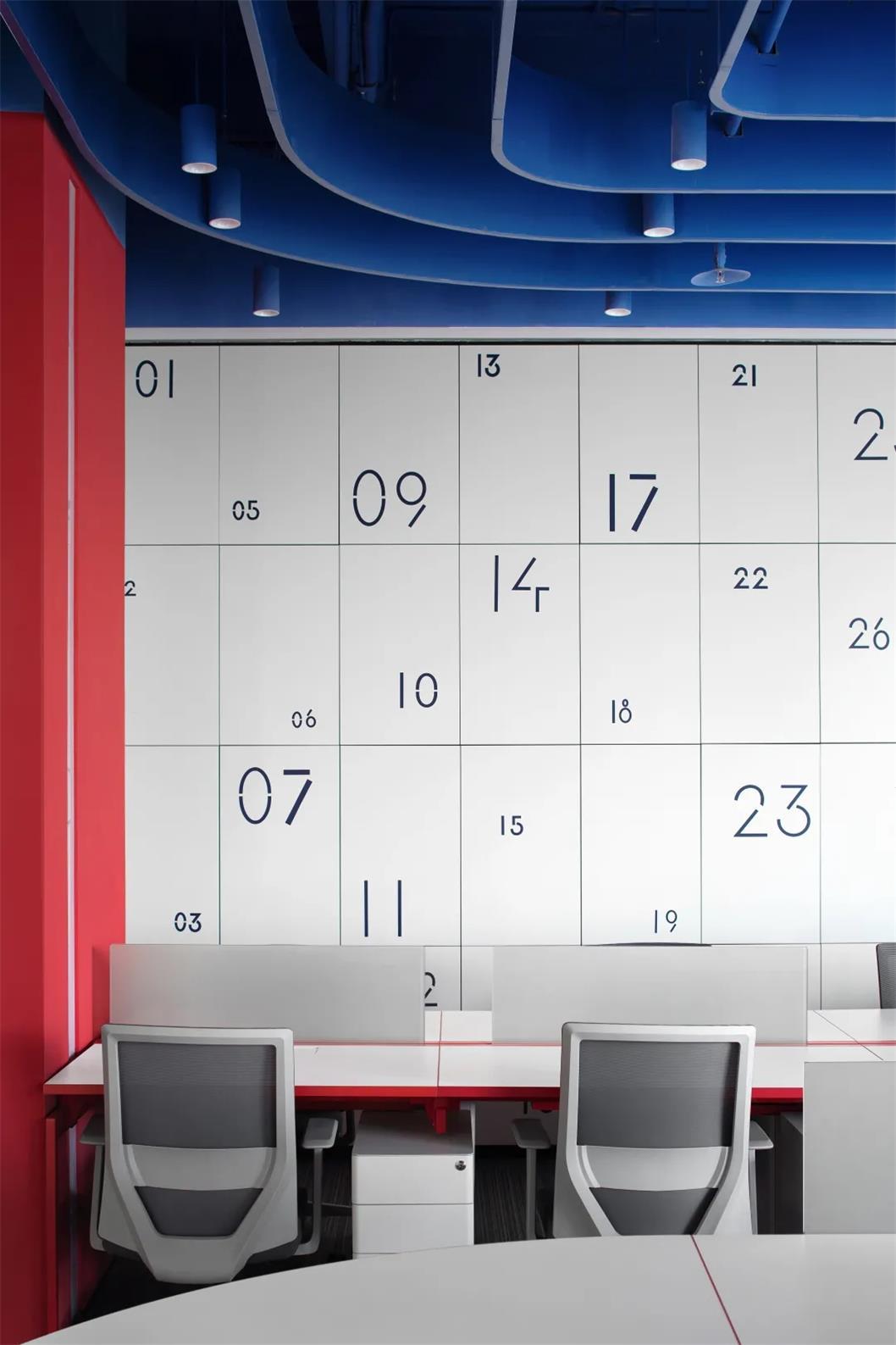 办公室员工存储柜导视设计
