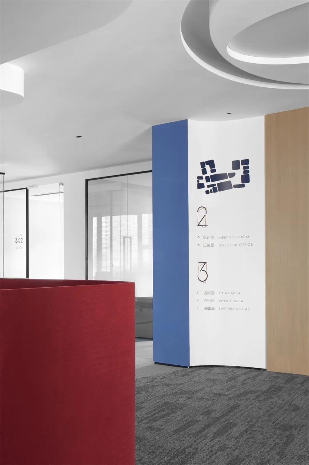 办公室地面及墙面导视设计