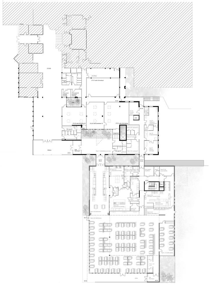 学校食堂内部平面方案设计