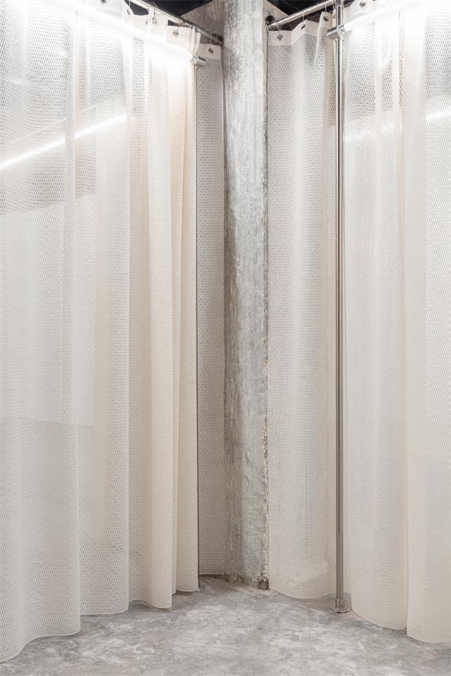 展厅白色纱帘设计