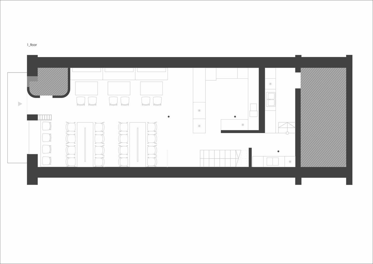 餐吧一层平面方案设计