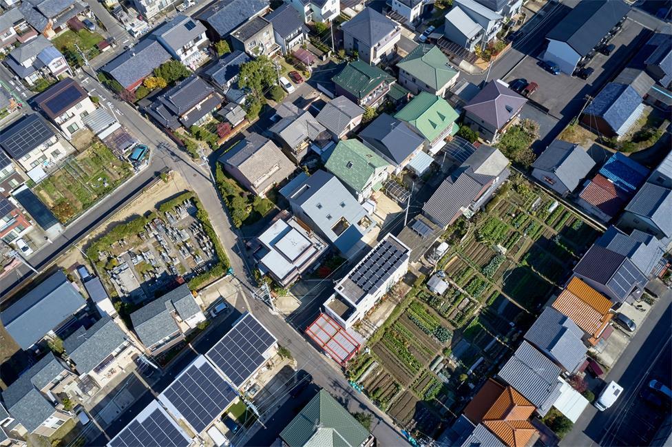 住宅建筑俯瞰图