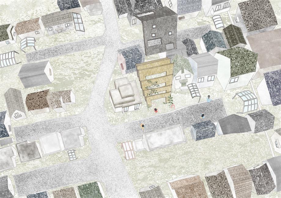 住宅结构手绘图