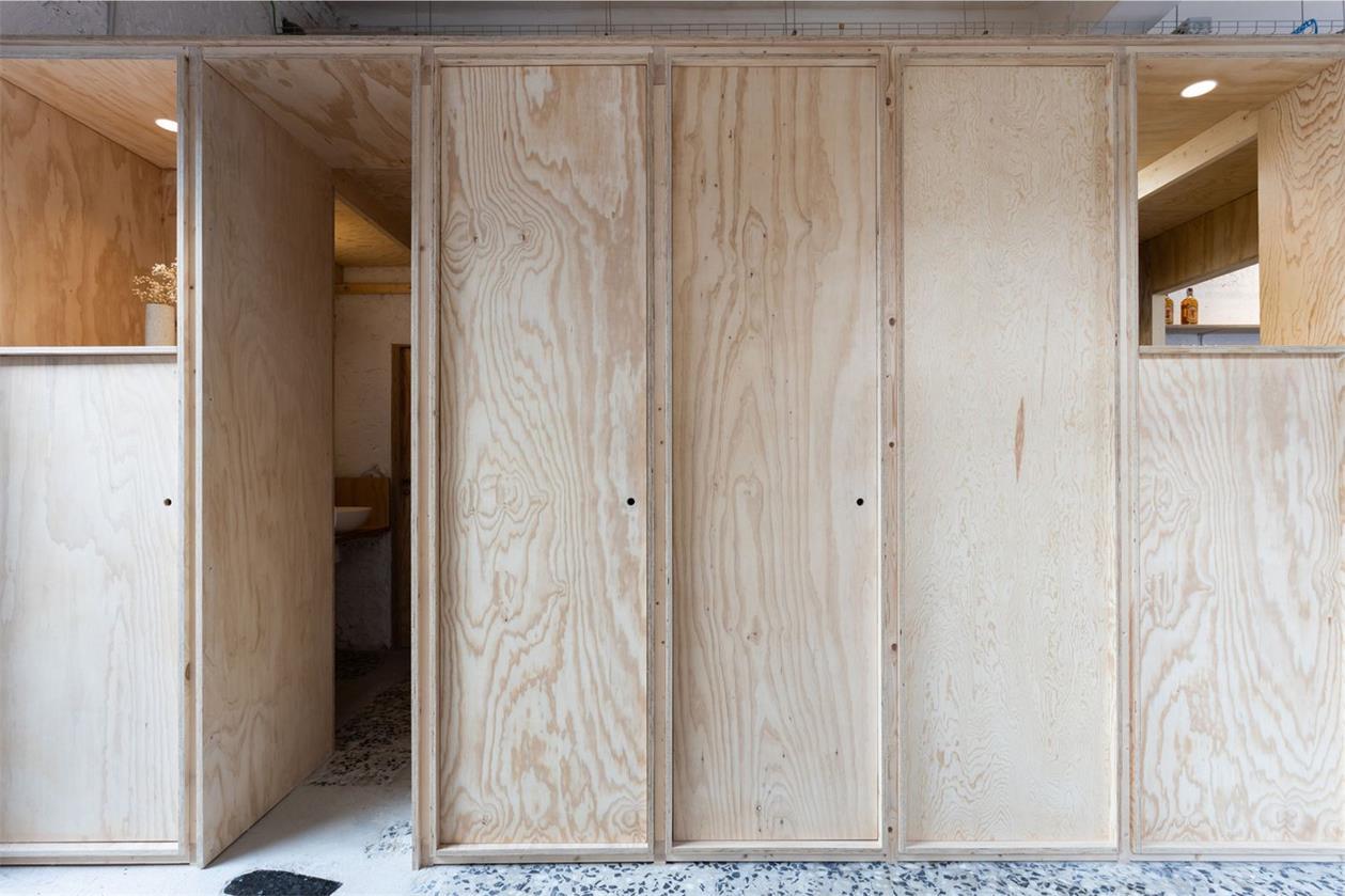 静吧木质推拉门设计