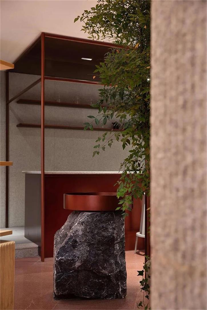 茶文化体验馆吧台金属结构设计