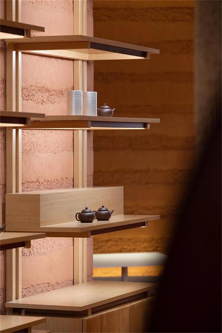 茶文化体验馆展示架设计细节
