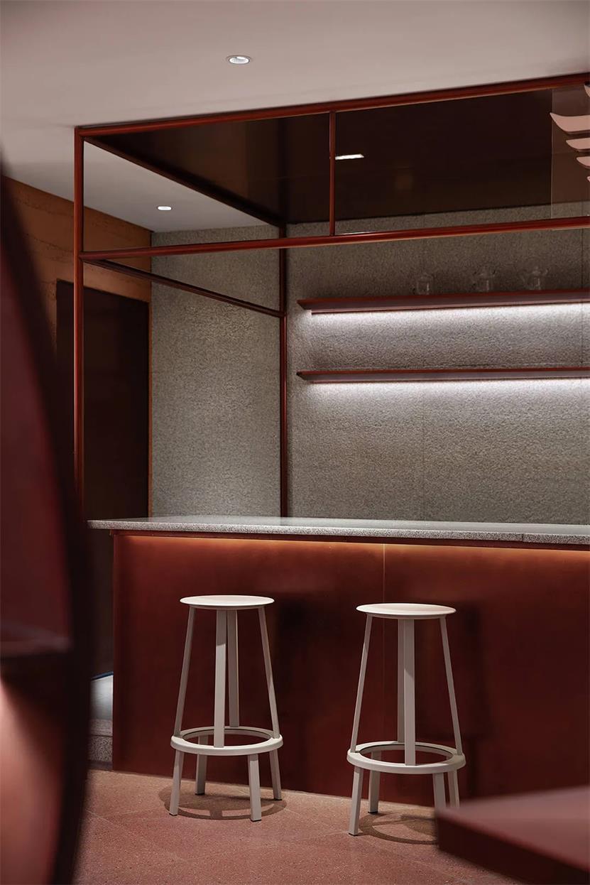 茶文化体验馆吧台背景墙设计