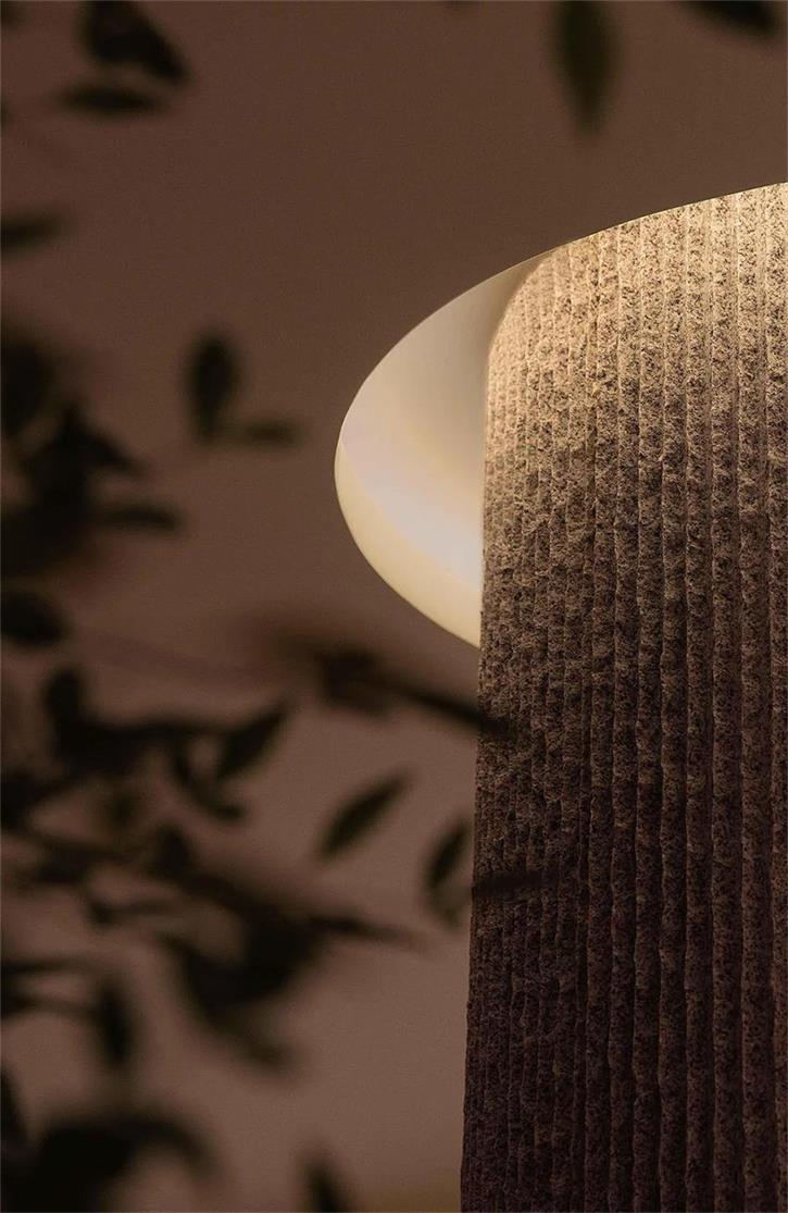 茶文化体验馆柱子与天花的结合设计