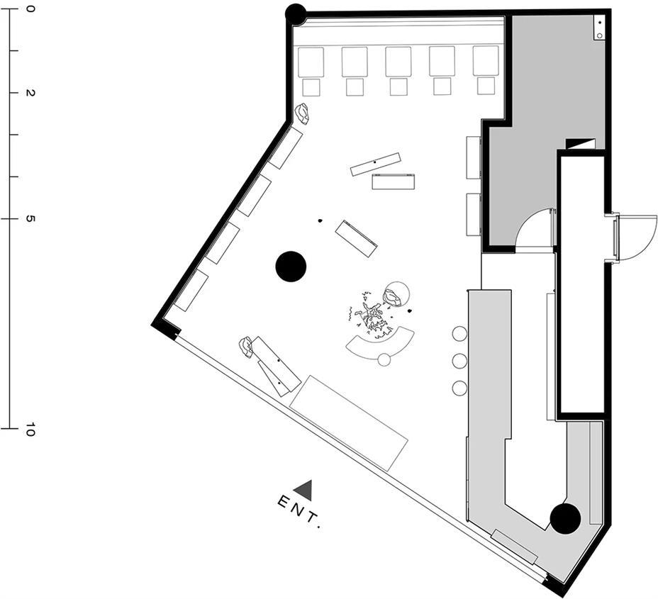 茶文化体验馆平面方案设计