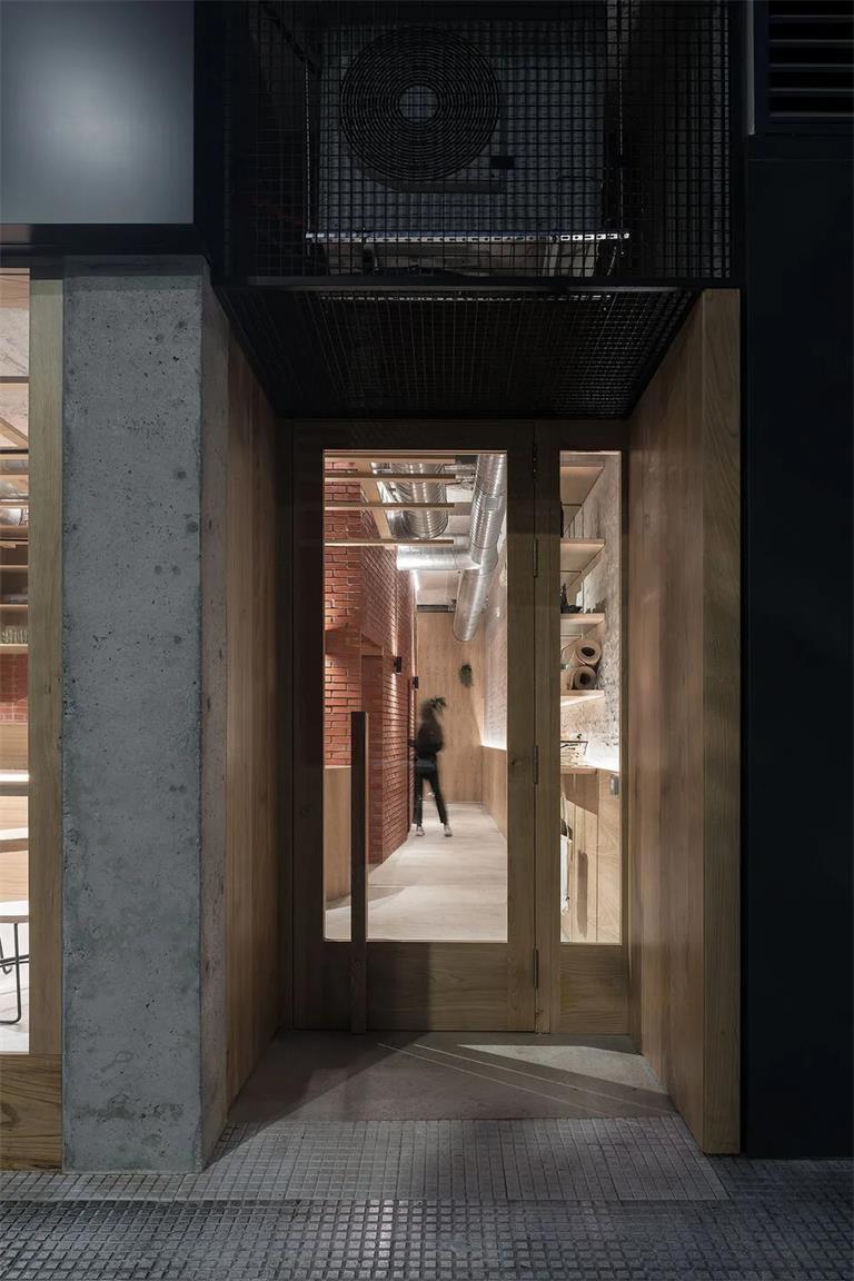 瑜伽工作室入户门设计