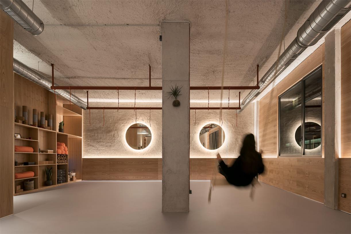 瑜伽工作室秋千设计
