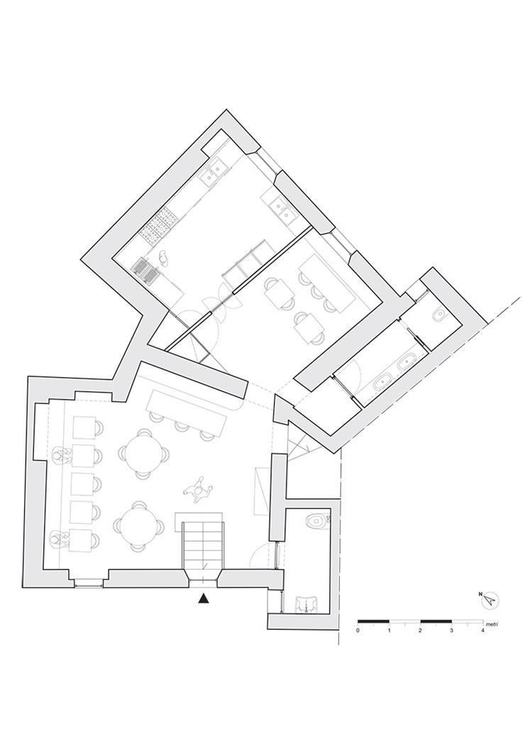 餐吧地下平面方案设计